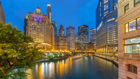 Blick auf den Chicago River.
