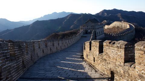 Mutianyu ist ein Abschnitt der Chinesischen Mauer im Stadtbezirk Huairou 70 km nordöstlich von Peking.