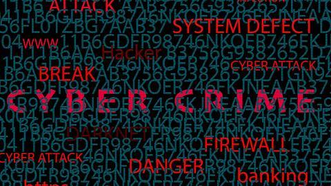 Bildschirm mit CYBER CRIME