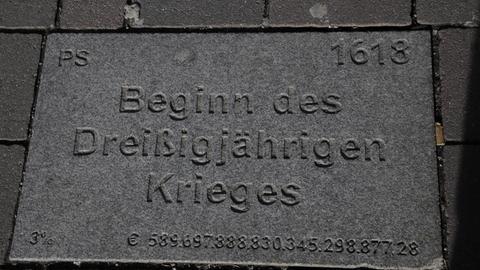 Wörgler Meilensteine in der Bahnhofstraße - Beginn des Dreißigjährigen Krieges (1618)