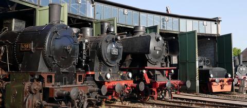 Das Eisenbahnmuseum Darmstadt-Kranichstein präsentiert zahlreiche Schätze deutscher Eisenbahngeschichte.