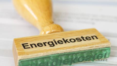 """Stempel mit dem Schriftzug """"Energiekosten"""""""