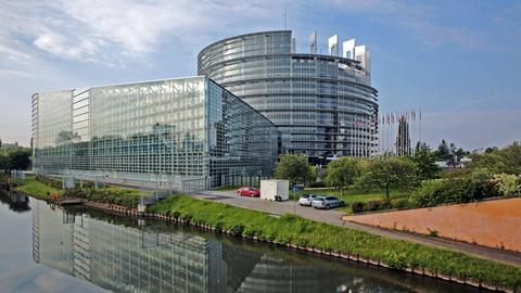 Blick auf das Europäische Parlament.