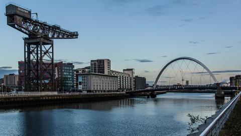 Glasgow Hafen