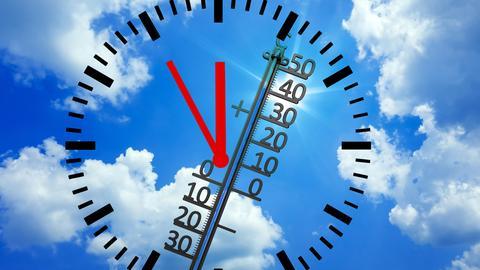 Thermometer zeigt Hoechstwerte