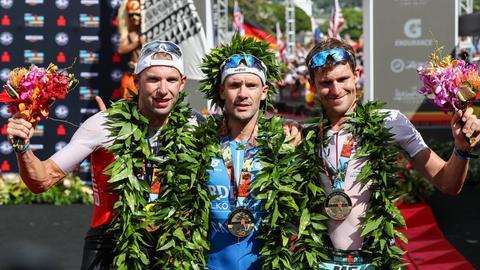 Siegerehrung beim Ironman Hawaii 2018.