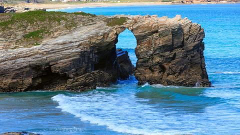Die Küste von Galizien.