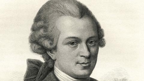 Ein zeitgenössisches Portrait von Gotthold Ephraim Lessing.