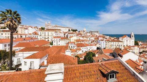 Lissabon: Blick auf Alfama