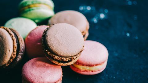 Macarons in verschiedenen Farben