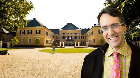 Schloss Johannesberg und Weinkritiker und Autor Stuart Pigott.
