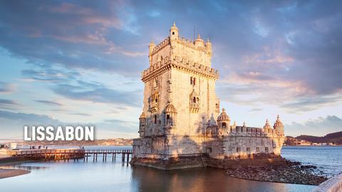 Eines der bekanntesten Wahrzeichen Lissabons: der Turm von Belém.
