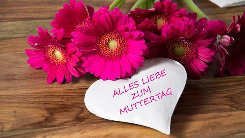 Blumen und Herz