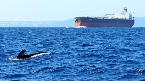 Öltanker auf offenem Meer