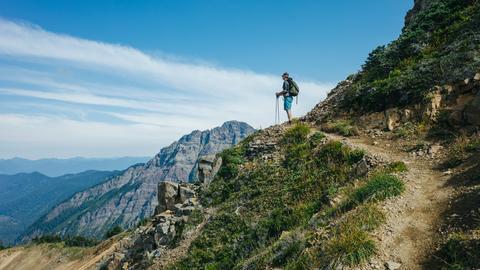 Wanderer auf dem Pacific Crest Trail.