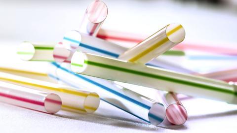 Plastik Strohhalme
