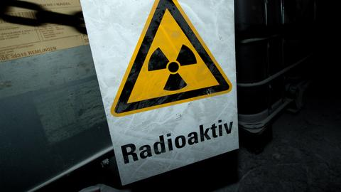 Warnschild radioaktiv