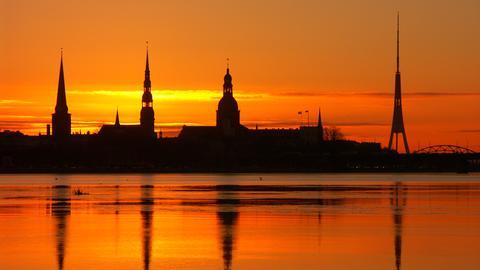 Riga im Sonnenuntergang