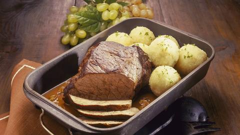 Rinderbraten mit Kartoffelknödeln