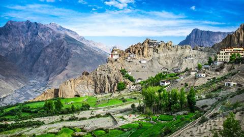 Blick auf Spiti im Himalaya.