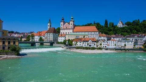 Blick auf die Stadt Steyr in Österreich.