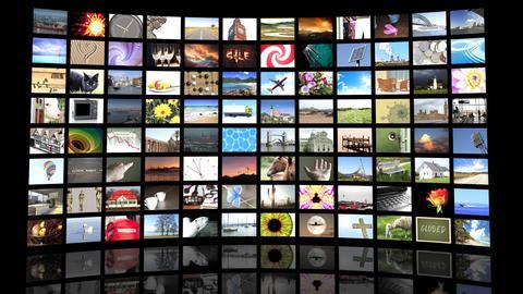 Wand mit Fernsehern