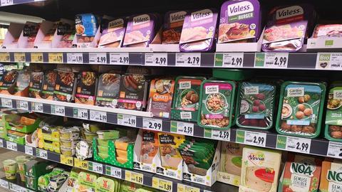 Vegetarische Produkte in einer Kaufland Filiale