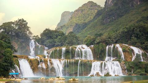 Der Ban Gioc Wasserfall in Vietnam.