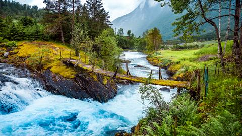 Ein Wildbach in Norwegen